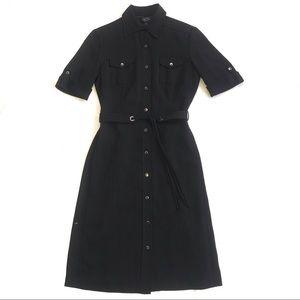 Tahari Arthur S Levine Pinstripe Button Up Dress